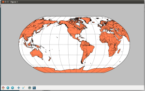 Robinson projection map
