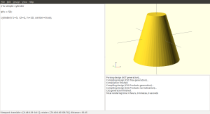 A cone is just a cylinder, with a different radius for each end.