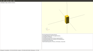 "A ""cube"" in openSCAD actually refers to any rectangular prism."