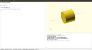 A cylinder, rotated sideways about the y-axis.