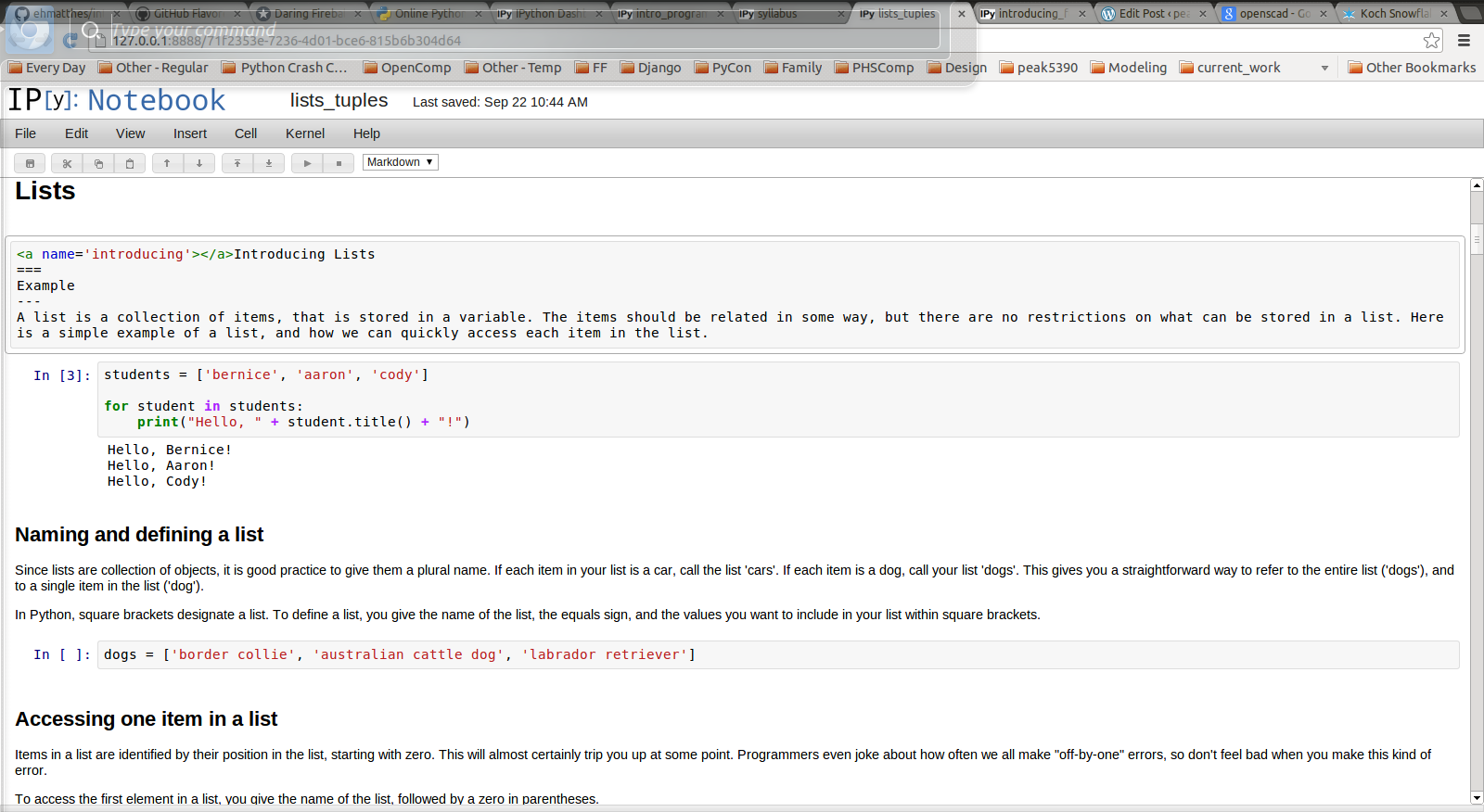 How IPython Notebook and Github have changed the way I teach