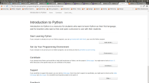 Introduction to Python - the main project I've been working on, as it looks now.
